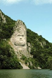 Rock Sculpture of Decebalus in Romania Lined Journal