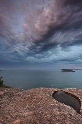 Gemstone Colored Skies at Pearl Beach Broken Bay New South Wales Lined Journal