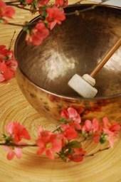A Brass Tibetan Singing Bowl Lined Journal