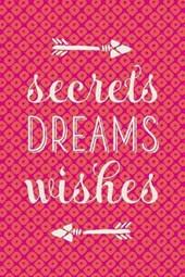 Secrets Dreams Wishes Arrows Lined Journal