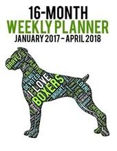 Wordcloud Boxer 2017-2018 Weekly Planner