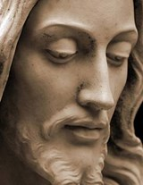 Jumbo Oversized a Close Up of a Statue of Jesus Christ | Unique Journal |