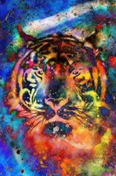 A Colorful Psychedelic Tiger Illustration Journal