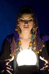 Fortune Teller With a Crystal Ball Lined Journal
