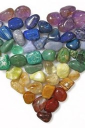 Collection of Colorful Polished Gemstones Journal