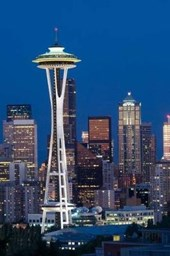View of the City of Seattle Washington United States USA at Dawn Lined Journal
