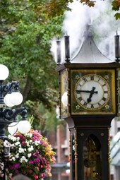 Awesome Vintage Steam Clock in Gastown Vancouver British Colombia Canada Lined Journal