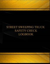 Street Sweeping Truck Safety Check Black Log Journal