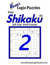 Brainy's Logic Puzzles Easy Shikaku