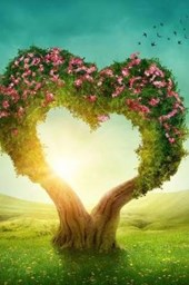 A Tree With Pink Flowers Shaped Like a Heart Fantasy Illustration Journal