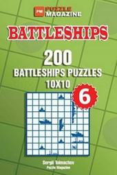 Battleships - 200 Battleships Puzzles 10x10 (Volume 6)