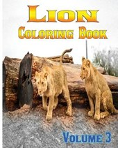 Lion Coloring Books Vol.3 for Relaxation Meditation Blessing