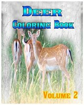 Deer Coloring Books Vol.2 for Relaxation Meditation Blessing