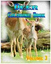 Deer Coloring Books Vol.3 for Relaxation Meditation Blessing