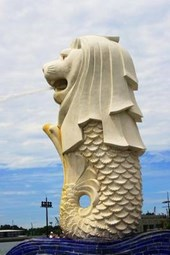 Merlion Statue in Singapore Journal
