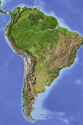 Relief Map of South America Journal