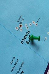 Tuvalu Map With Push Pin Journal | auteur onbekend |