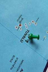 Tuvalu Map With Push Pin Journal