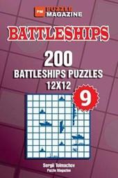 Battleships - 200 Battleships Puzzles 12x12 (Volume 9)