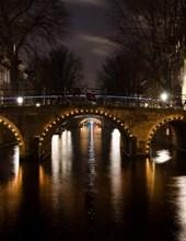 Jumbo Oversized Bridge Over a Channel in Amsterdam, Netherlands