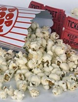Jumbo Oversized Popcorn and Movie Tickets for the Theatre | Unique Journal |