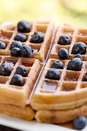 Waffles with Blueberries Journal