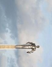 Jumbo Oversized Yuri Gagarin Monument in Russia Cosmonaut