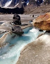 Jumbo Oversized Fresh Glacier Water Flowing