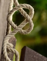 Jumbo Oversized Rope Twisted Into a Heart Knot | Unique Journal |