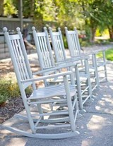 Jumbo Oversized a Row of Rocking Chairs | Unique Journal |
