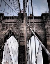 Jumbo Oversized the Iconic Gothic Design Brooklyn Bridge in NYC New York