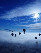 Jumbo Oversized Hot Air Ballons Flying Above the Clouds | Unique Journal |