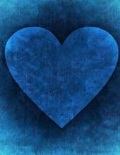 Jumbo Oversized Heart Art on Blue
