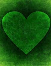 Jumbo Oversized Heart Art on Green