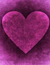 Jumbo Oversized Heart Art on Purple
