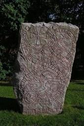 A Norse Rune Stone in Uppsia Sweden