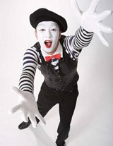Jumbo Oversized Mime at the Carnival | Unique Journal |