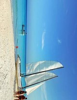 Jumbo Oversized Sail Boat on the Beach in Cuba | Unique Journal |