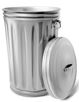 Jumbo Oversized Brand New Aluminum Trash Can | Unique Journal |