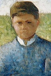 1882 Georges Seurat Young Peasant in Blue