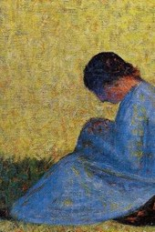 Georges Seurat 1883 Peasant Woman Seated in the Grass