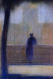 Georges Seurat Man Leaning on a Parapet