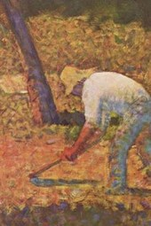 Georges Seurat Peasant with Hoe