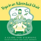 Yoga in an Adirondack Chair