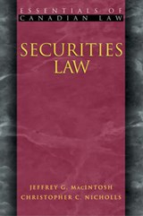 Securities Law | Christopher Nicholls |