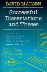 Successful Dissertations and Theses | David Madsen |