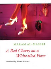 A Red Cherry on a White-tiled Floor