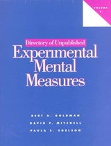 Directory of Unpublished Experimental Mental Measures | Bert A. Goldman |