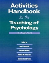 Activities Handbook for the Teaching of Psychology |  |