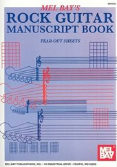 Rock Guitar Manuscript Book |  |